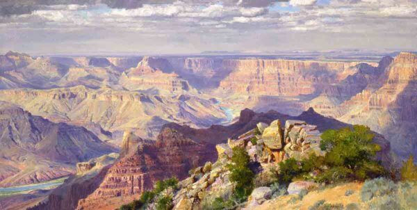Treasured Pagentry 40x80 (2000) painting by Curt Walters
