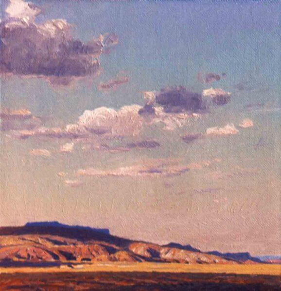 Vermillion Cliffs 10x10 (2011) Oil painting by Curt Walters
