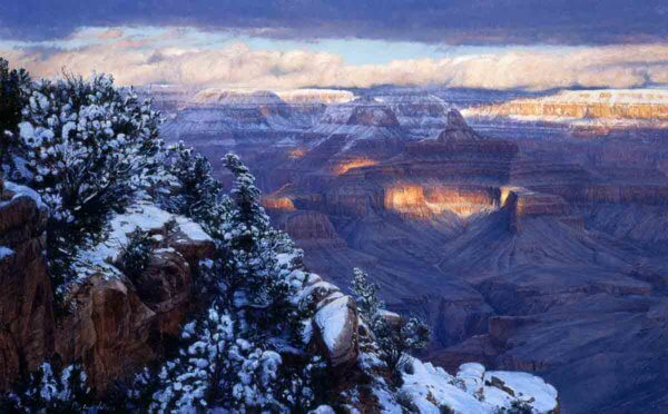 Winter Opulence 30x48 Oil Painting by Curt Walters