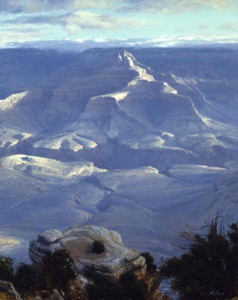 Yaki Sunrise 28x22 (2000) painting by Curt Walters