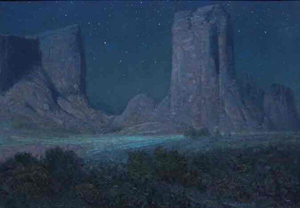 Anasazi Nocturn 20x28 (framed 28x36) by Curt Walters