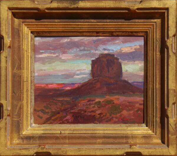 August Evening and Merrick Butte Monument Valley 8x10 by Curt Walters