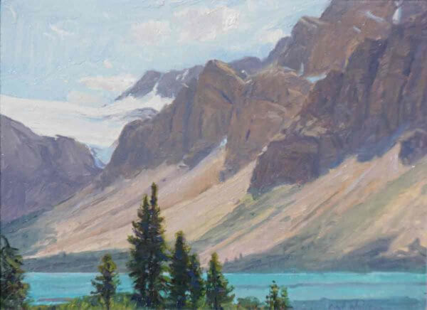 Bow Lake 9x12 by Curt Walters