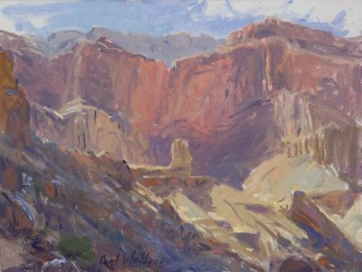 Apache Walls oil 6x8 by Curt Walters