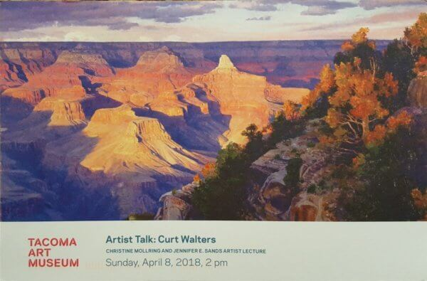 Tacoma Art Museum Postcard with Curt Walters Landscape