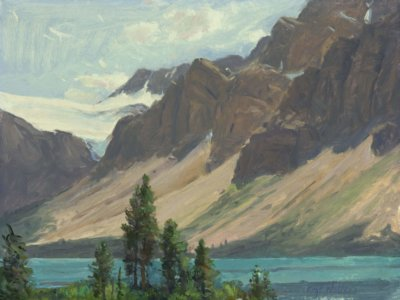 BOW LAKE oil on canvas