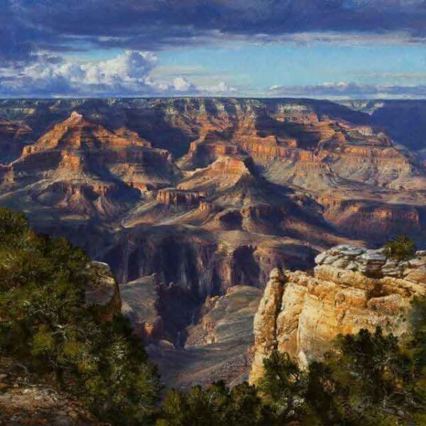 CONTEXTURE OF AUGUST Curt Walters oil on canvas