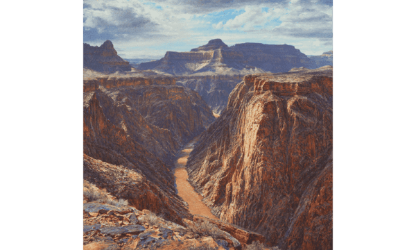 A CHASM SUBLIME PLATEAU-POINT Oil on canvass Curt Walters