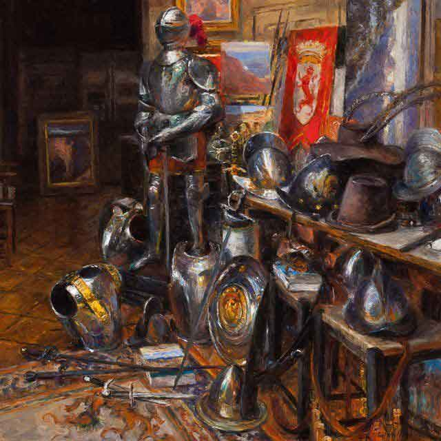 My Studio The Entrada Oil on canvas Curt Walters
