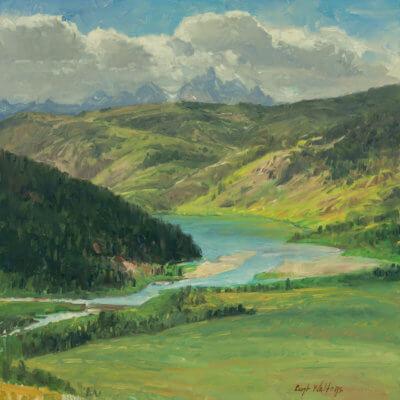 SLIDE LAKE Grand Teton National Park oil