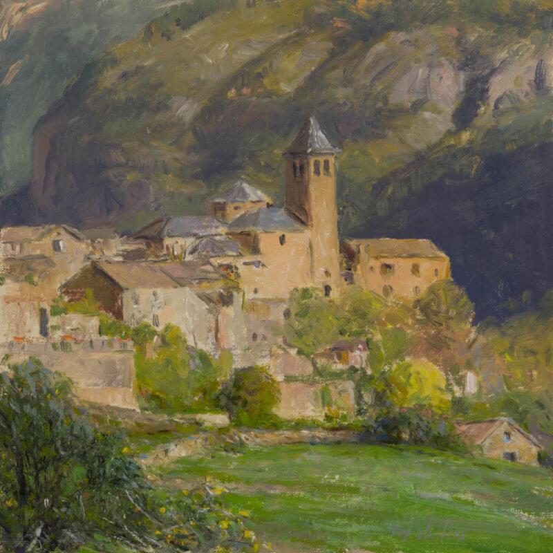 CHARM OF TORLA by Artist Curt Walters, International Oil Landscape Artist